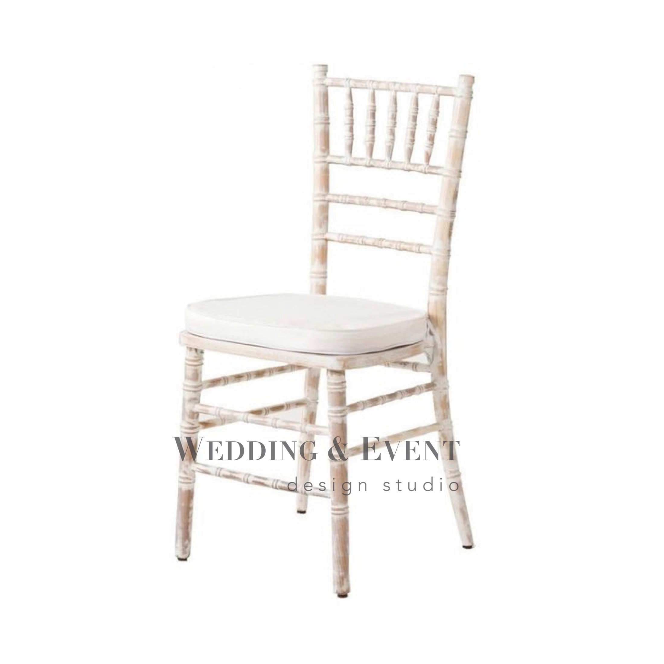 """Stuhl """"CHIAVARI VINTAGE"""" inkl Sitzkissen in weiss oder natur Stühle"""