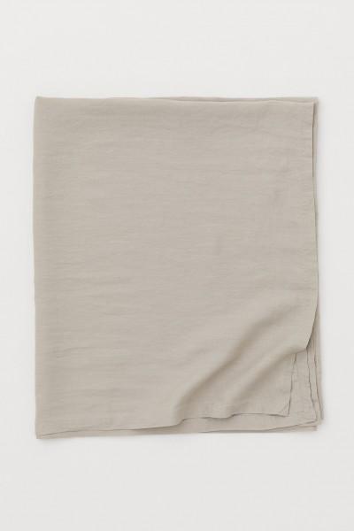 """Leinen-Tischdecke """"JOY GREIGE"""" 230 x 390cm"""