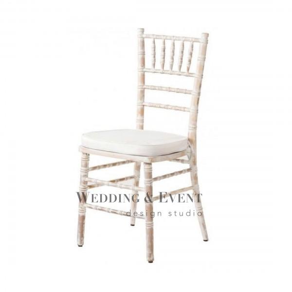 """Stuhl """"CHIAVARI VINTAGE"""" inkl Sitzkissen in weiss oder"""
