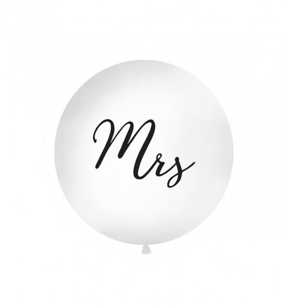 """XXL-Luftballon """"Mrs"""", Durchm. 1m (VERKAUF)"""