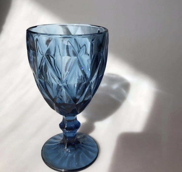"Weinglas ""QUEEN"", blau, 300ml"