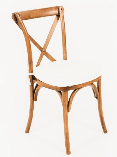 """Stuhl """"PROVENCE"""", honigbraun, inkl. Sitzkissen in weiss oder beige"""
