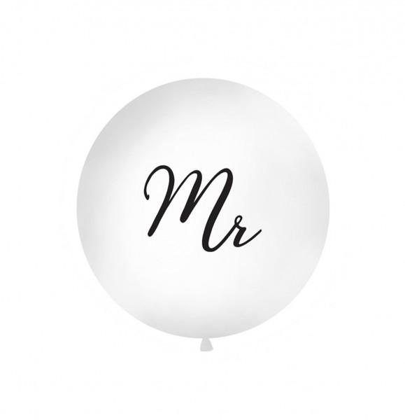 """XXL-Luftballon """"Mr"""", Durchm. 1m (VERKAUF)"""