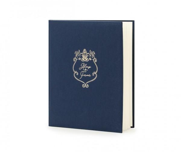 """Gästebuch """"always & forever"""" Hochzeit dunkelblau/gold (VERKAUF)"""