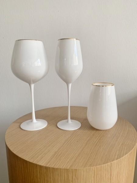 """Weissweinglas """"LIZ WHITE"""""""