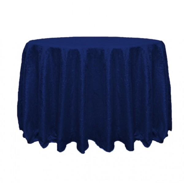 Pailletten-Tischdecke 300cm, navy/marine-blau