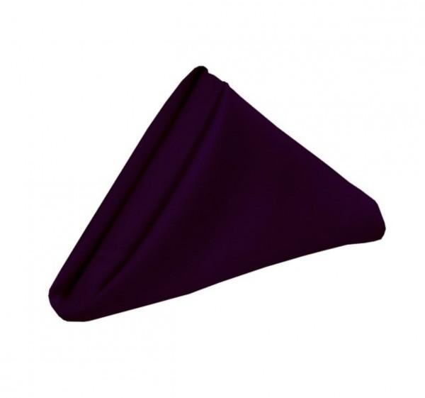 Serviette, 50x50cm, aubergine