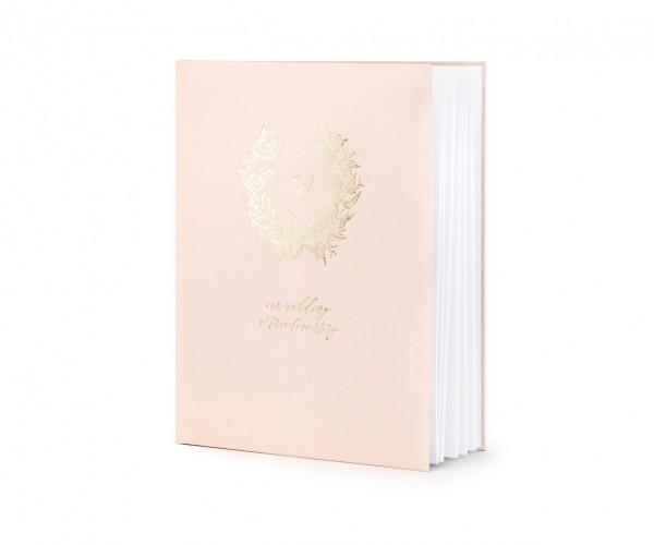 """Gästebuch """"always & forever"""" Hochzeit rosa/roségold (VERKAUF)"""