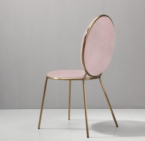 "Stuhl ""PARIS"", gold/pink"