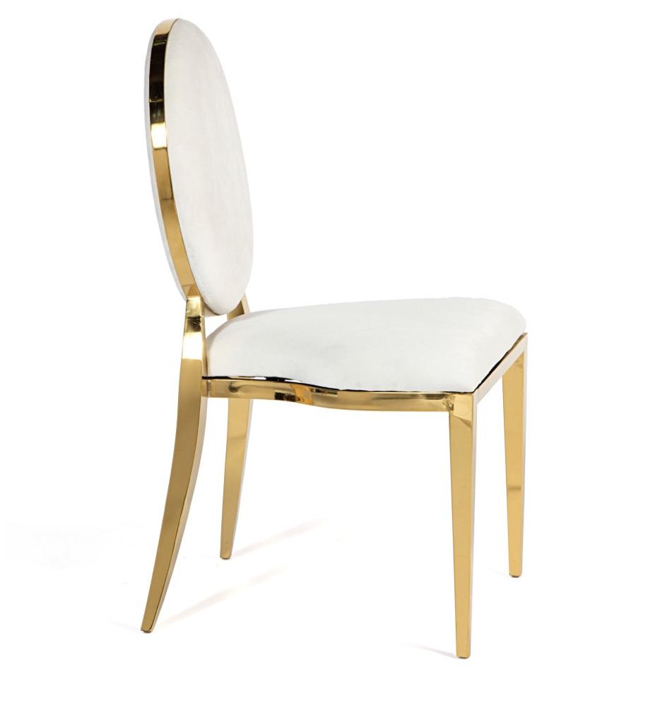 stuhl weiß gold