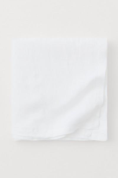"""Leinen-Tischdecke """"JOY WEISS"""" 130 x 230cm"""