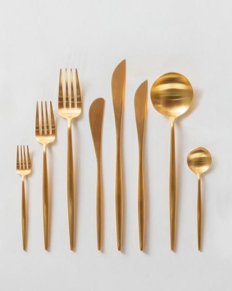 Dessertgabel, mattes gold