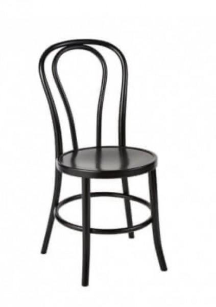 "Stuhl ""BENTON"", schwarz inkl. Sitzkissen"