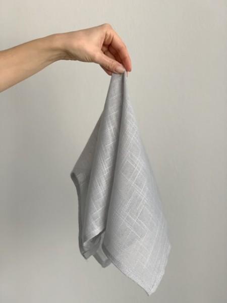 Leinenstruktur-Serviette, grau, 50x50cm
