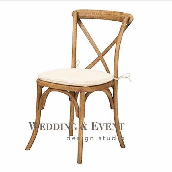 """Stuhl """"PROVENCE"""", aschbraun, inkl. Sitzkissen in weiss oder beige"""