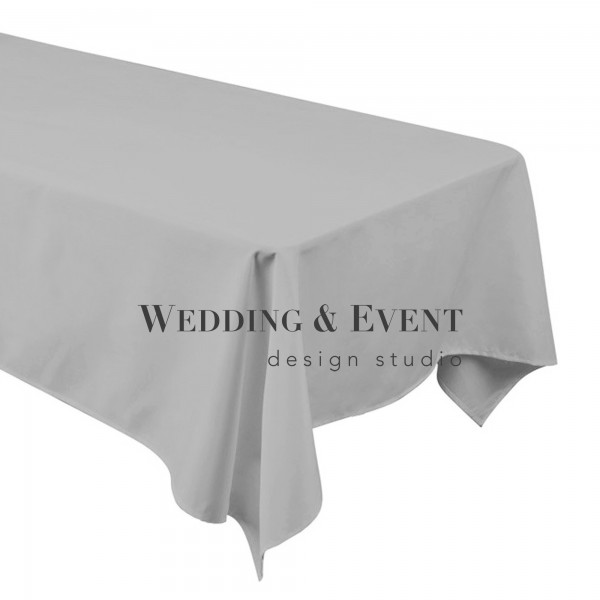 Tischdecke 130 x 220cm, grau