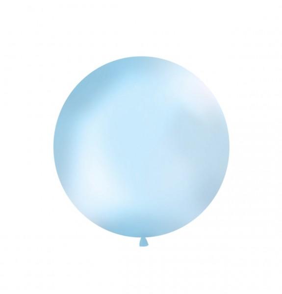 XXL-Luftballon hellblau, Durchm. 1m (VERKAUF)