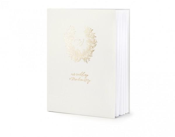"""Gästebuch """"always & forever"""" Hochzeit hellgrau/gold (VERKAUF)"""