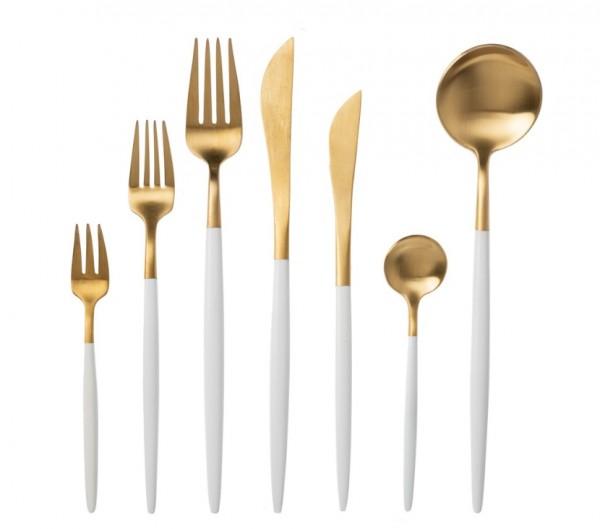 Menümesser gold-weiss