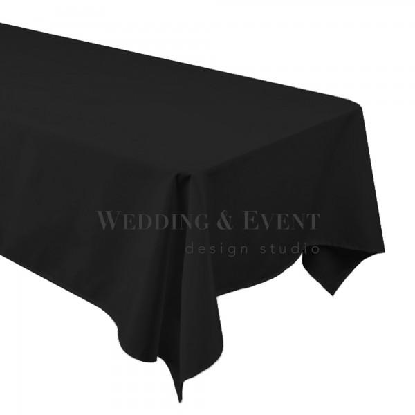 Tischdecke 130 x 220cm, schwarz
