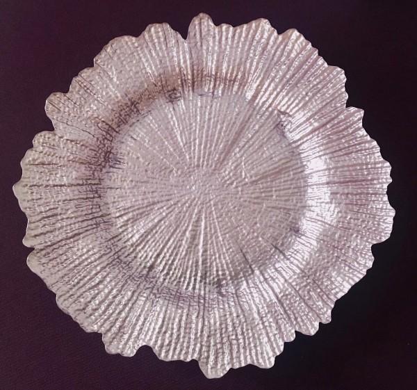 """Glasplatzteller """"MAGNOLIA"""", flieder"""
