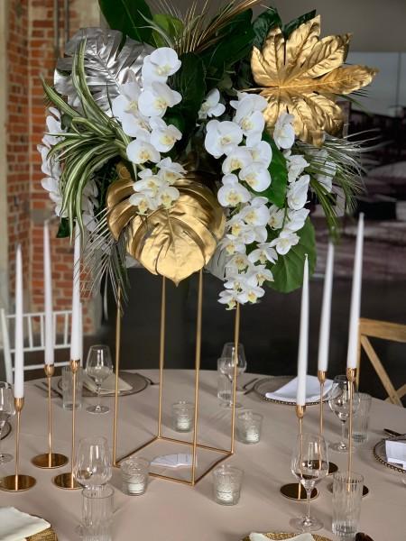 Dekorationsständer, gold (exkl. Blumen)